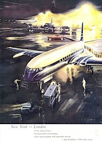 Comet 4 Ad --British Airways Heritage Centre